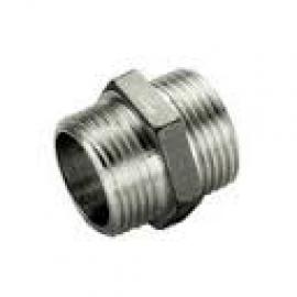 TIEMME Ниппель HH никелированный 1/2 х 1/2 для стальных труб резьбовой