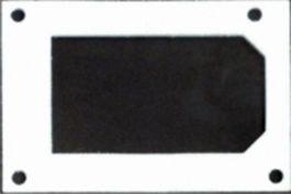 Прокладка прямоугольная главной горелки (стеклoбумага)