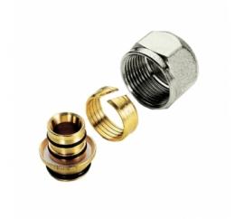 TIEMME Соединитель для металлопластиковой трубы(евроконус) 16х3/4 EK