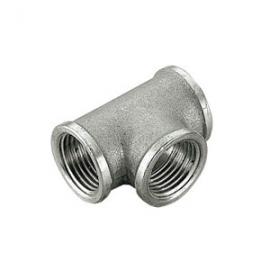 TIEMME Тройник ВВ никелированный 1 1/4 для стальных труб резьбовой