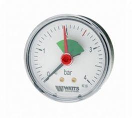 Watts F+R101(MHA) 63/4x1/4 Манометр аксиальный с указателем предела / диаметр 63мм. 0-4 бар