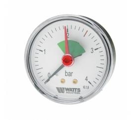Watts F+R101(MHA) 80/4x1/4 Манометр аксиальный с указателем предела / диаметр 80мм. 0-4 бар