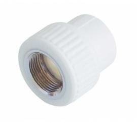 Kalde Муфта 25x3/4 комбинированная внутр. резьба для полипропиленовых труб  (цвет белый)