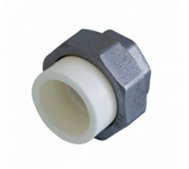 Kalde Муфта разъемная 32х1 с внутренней резьбой серии ECO для полипропиленовых труб  (цвет белый)