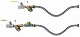 Комплект для подключения к газу (среднее давление, кран, фильтр, регулятор давления, подводка гибкая) для инфракрасного обогревателя