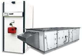 Центральный газовый воздухонагреватель ADRIAN-AIR MID 2900 В (горизонтальное внутреннее исполнение)