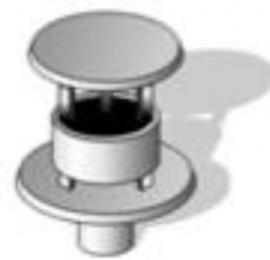 Концевой оголовок для вертикального дымохода, AL, ф 80/125 мм