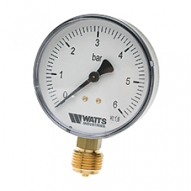 Watts F+R200(MDR) 80/16x1/2 Манометр радиальный / диаметр 80мм. 0-16 бар