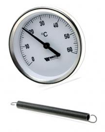 Watts F+R810 TCM Термометр биметаллический накладной на трубы (с пружиной)