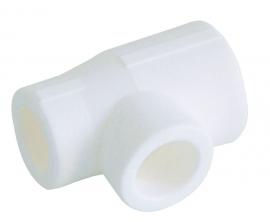 Kalde Тройник переходной  63x40x63 для полипропиленовых труб  (цвет белый)