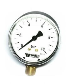 Watts F+R200(MDR) 63/10x1/4 Манометр радиальный / диаметр 63мм. 0-10 бар
