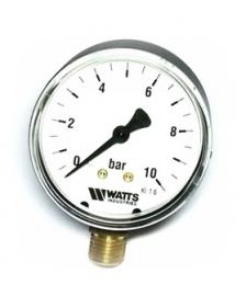 Watts F+R200(MDR) 50/10x1/4 Манометр радиальный / диаметр 50мм. 0-10 бар