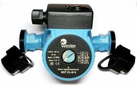 Насос циркуляционный Wester WCP 25-40G, с гайками
