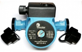 Насос циркуляционный Wester WCP 25-80G (180мм) с гайками