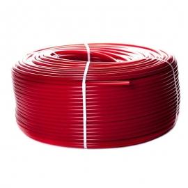 STOUT Труба из сшитого полиэтилена PE-Xa/EVOH 20х2,0 (бухта 100 м) красная для отопления