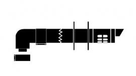 Vaillant Комплект коаксиальный с ветрозащитой L=1000 мм, DN 80/125 PP/ для конденсационных котлов