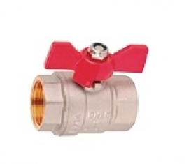 Wester W54A1S Кран шаровой муфтовый полнопроходной (бабочка) 1