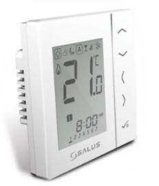 SALUS Термостат VS30W(белый) комнатный программируемый недельный сенсорный, встраиваемый