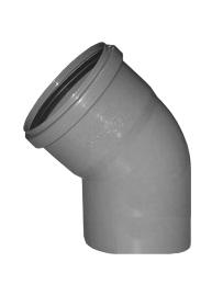 Sinikon Отвод D110 45градусов серый полипропиленовый