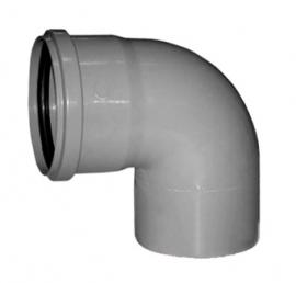 Sinikon Отвод D50 87градусов серый полипропиленовый