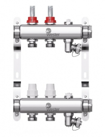 Wester W902.2 Коллектор распределительный (нержавеющая сталь) на 2 выхода, с расходомерами