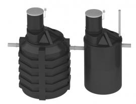 АКВАТЕК Септик пластиковый ЛОС 8 стандартное исполнение
