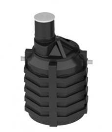 АКВАТЕК Емкость под септик пластиковая 3 куб.м (стандартное исполнение с патрубками и перегородками)