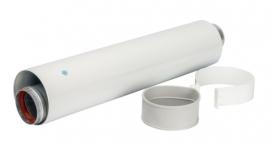 STOUT Коаксиальное удлинение 500 мм, DN 60/100 п/м (с уплотнением и хомутом)