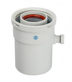 STOUT Конденсатосборник коаксиальный вертикальный DN60/100 п/м (с уплотнениями)