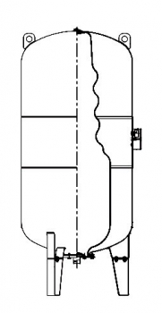 722ecb75 Мембранный расширительный бак Wester WRV 1000 (16 бар) 2-14-0226 ...