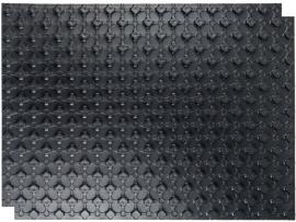 STOUT Плита (маты) для тёплого пола (1 штука, 0,88м²), с тепло- и звукоизолирующим слоем, черный