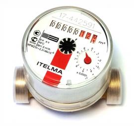 ITELMA Счетчик горячей воды WFW20.D080 Ду=15мм, L=80мм