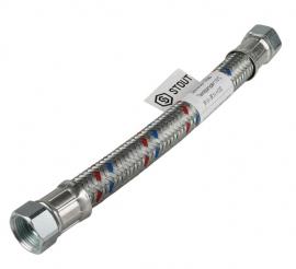 STOUT Гибкая подводка для воды ВР 3/4 х ВР 3/4, 300 мм
