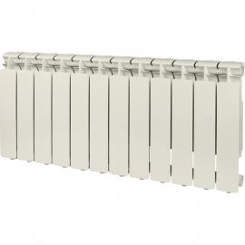STOUT Bravo 350 12 секций радиатор алюминиевый боковое подключение (RAL9010)