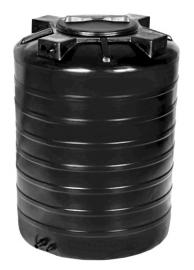 АКВАТЕК Бак для воды ATV 500 черный (штуцера)