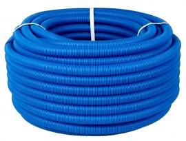 STOUT Труба гофрированная ПНД для труб диаметром 14-18 мм, цвет синий