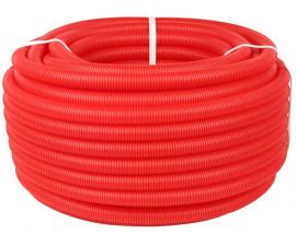 STOUT Труба гофрированная ПНД для труб диаметром 16-22 мм, цвет красный