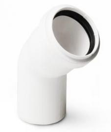 Sinikon COMFORT PLUS Отвод D50 45градусов с пониженным уровнем шума белый