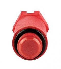 Stout Пробка (длинная) с наружной резьбой и уплотнительным кольцом 1/2, красная
