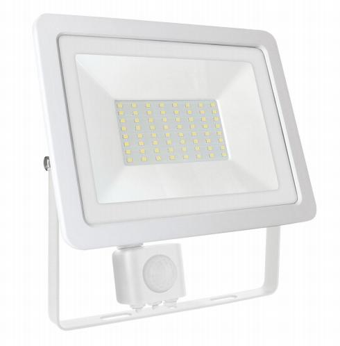 Светодиодный прожектор Spectrum LED NOCTIS LUX 2 SMD 230V 50W IP65, нейтральный свет, белый с датчиком движения