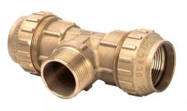 TIEMME Тройник компрессионный 32х1х32 НР для ПНД труб