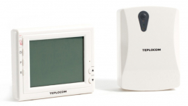 TEPLOCOM Радиотермостат с ЖК-дисплеем комнатный программируемый беспроводной TS-Prog-2AA/3A-RF