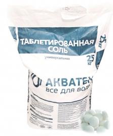 АКВАТЕК Соль таблетированная NaCl (25 кг), Россия