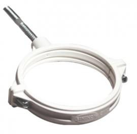 Sinikon COMFORT PLUS Хомут D50 полипропиленовый со шпилькой и дюбелем белый