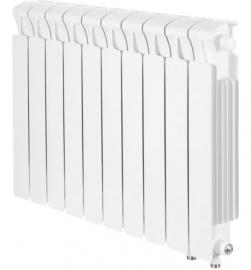 RIFAR Биметаллический монолитный радиатор MONOLIT VENTIL 500 4 секции (MVR) нижнее подключение (справа) 50мм