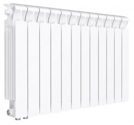 RIFAR Биметаллический монолитный радиатор MONOLIT VENTIL 500 6 секций (MVL) нижнее подключение (слева) 50мм