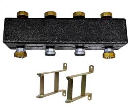 Meibes Коллектор распределительный до 3 отопительных контуров с комплектом кронштейнов (поколение 8)