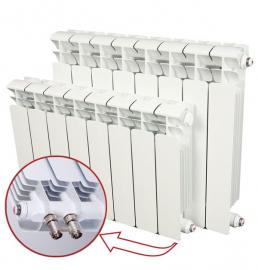 RIFAR Биметаллический секционный радиатор Base Ventil 500 BVR 13 секций (нижнее подключение справа)