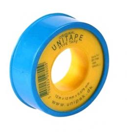 UNIPAK Фум-лента тефлоновая UNITAPE (12м х 12мм х 0.075мм) синяя