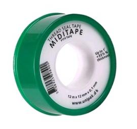 UNIPAK Фум-лента тефлоновая MIDITAPE (12 м х 12 мм х 0,1 мм)